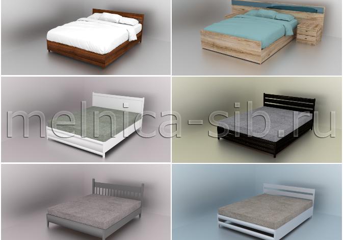 кровати, все модели, миниатюра